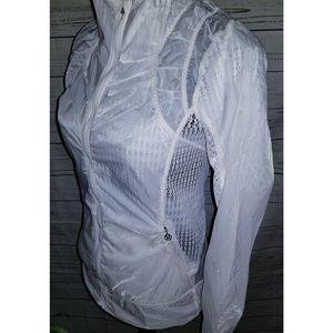 Lululemon nothing to hide mesh lace jacket sz 4